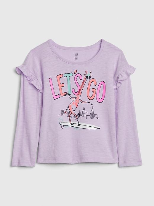 Toddler Ruffle Graphic T-Shirt