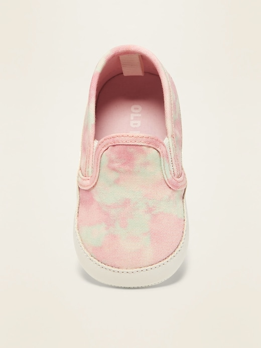 Tie-Dye Canvas Slip-Ons for Baby