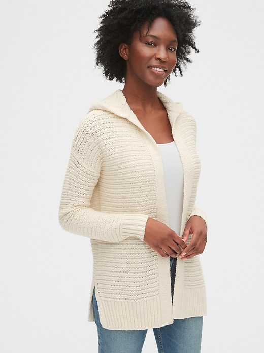 Hooded Cocoon Cardigan