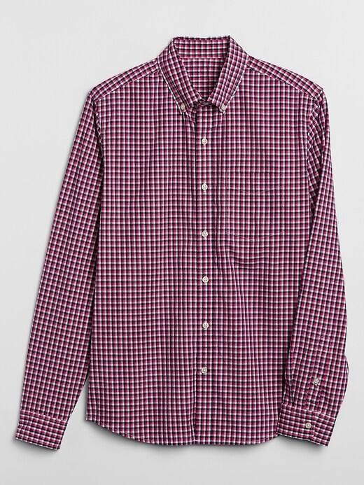 Print Poplin Shirt in Untucked Fit