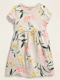 Floral-Print Jersey Fit & Flare Dress for Toddler Girls