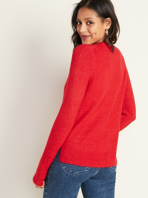 Soft-Brushed Crew-Neck Sweater for Women