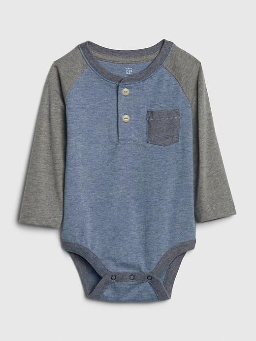 Baby Colorblock Henley Bodysuit