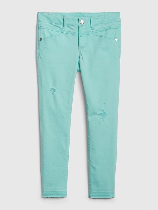 Kids Destructed Super Skinny Ankle Jeans with Stretch