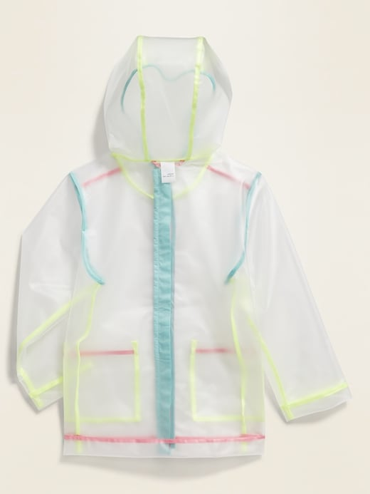 Water-Resistant Hooded Rain Jacket for Toddler Girls