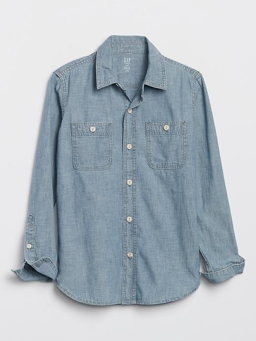 Kids Chambray Carpenter Shirt+B23