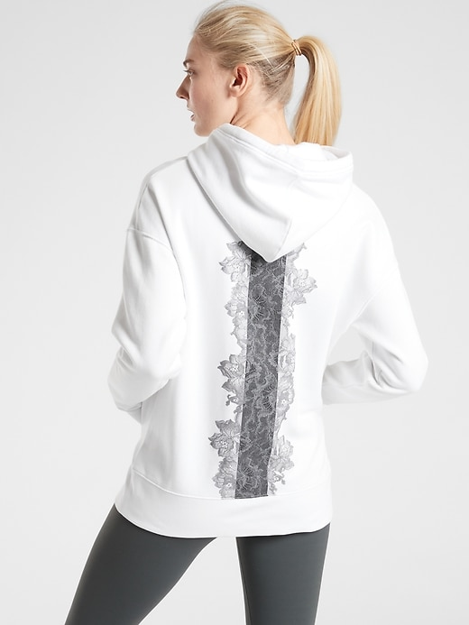 Rose Lace Tunic Hoodie