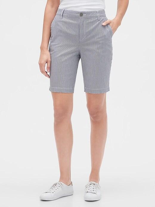 """8"""" Khaki Bermuda Shorts"""