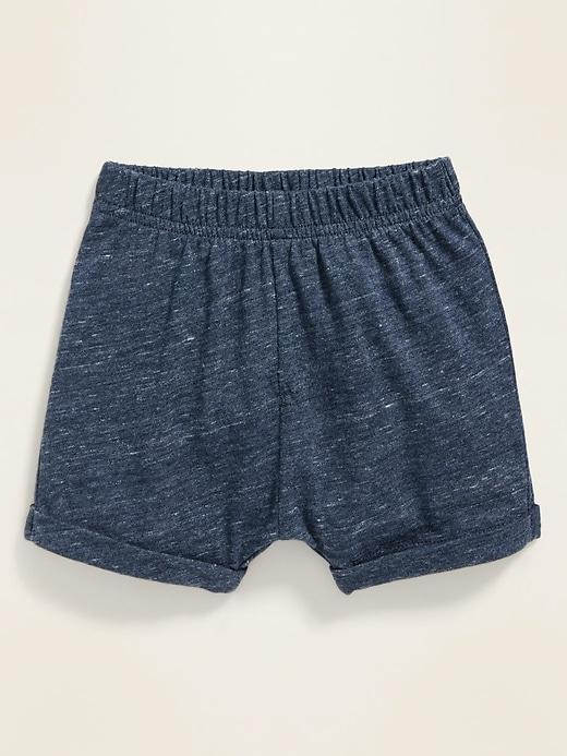 Slub-Knit Jersey Shorts for Baby