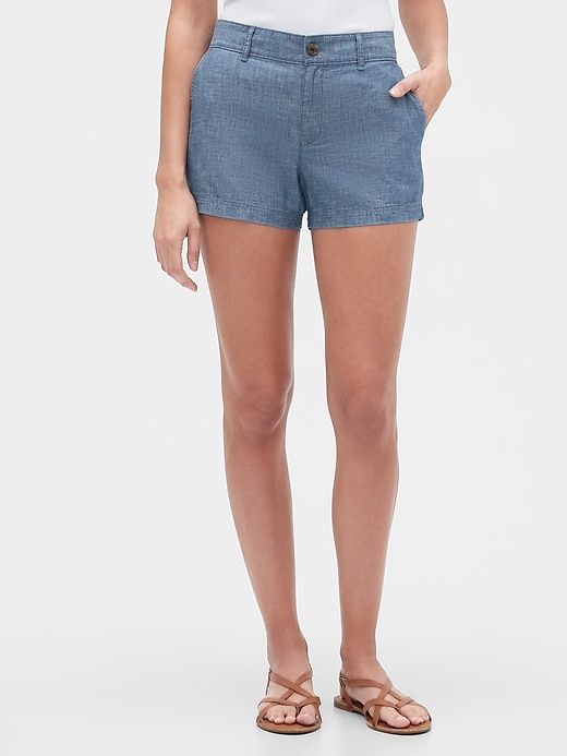 """3"""" Shorts in Chambray"""