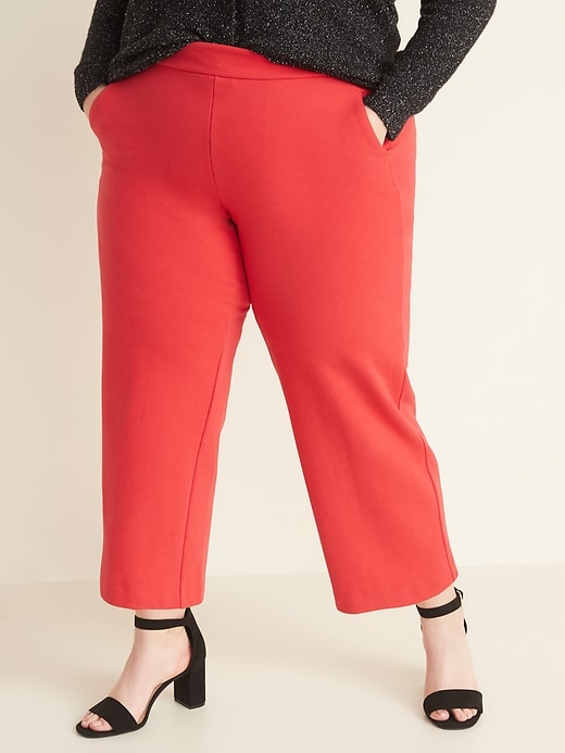 High-Waisted Secret-Slim Pockets Plus-Size Wide-Leg Stevie Pants