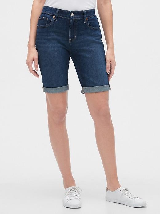 """9"""" Denim Bermuda Shorts"""