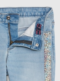 Kids Flippy Sequin Super Skinny Jeans with Stretch