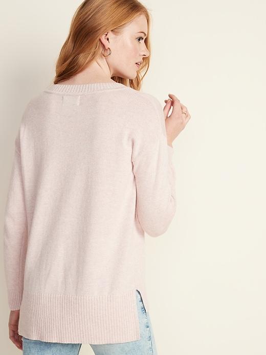 Drop-Shoulder Crew-Neck Sweater for Women