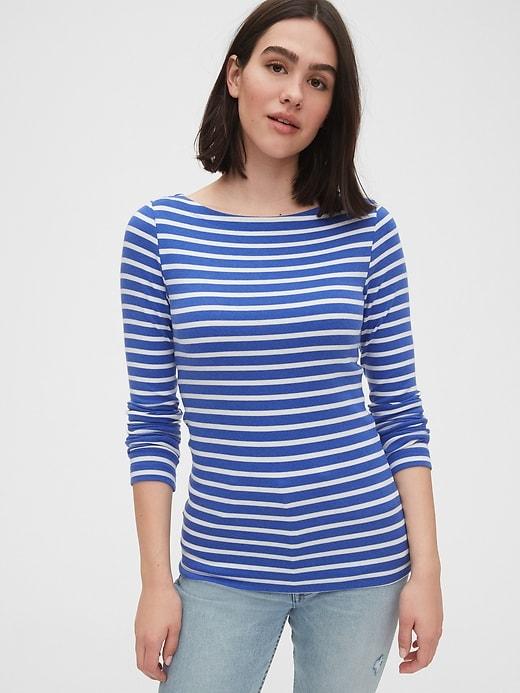 Modern Long Sleeve Boatneck T-Shirt