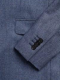 Veston de complet en flanelle italienne, coupe étroite