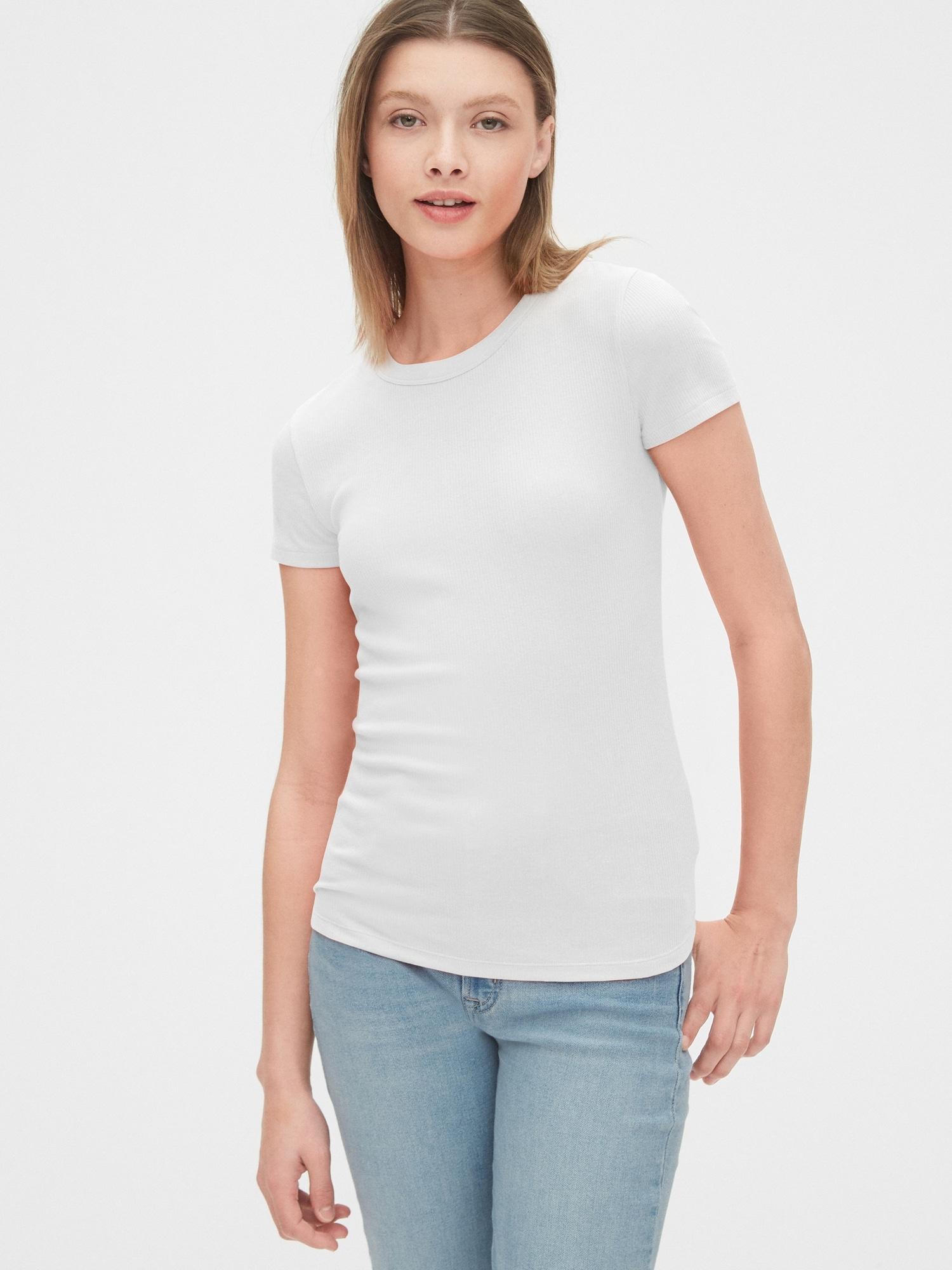 ソフトスパン フィッティッドクルーネックtシャツ