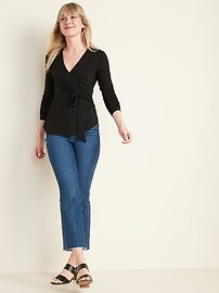 Luxe Wrap-Front Top for Women