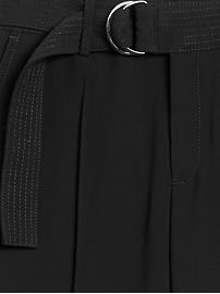 Pantalon militaire à jambe large et à taille haute