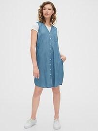 Sleeveless Shirtdress in TENCEL&#153