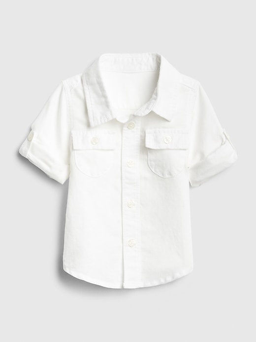 Chemise en lin pour bébé