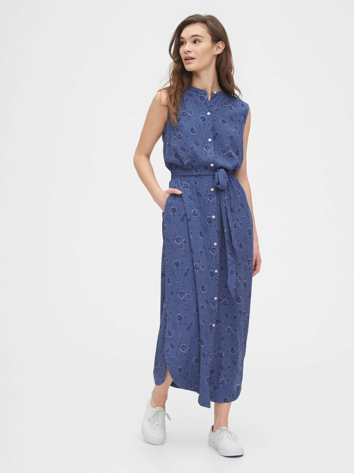 Wonderlijk Sleeveless Maxi Shirtdress | Gap FM-91