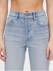 High Rise Distressed Cheeky Straight Jeans