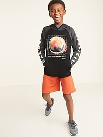 Graphic Go-Dry French Terry Pullover Hoodie for Boys