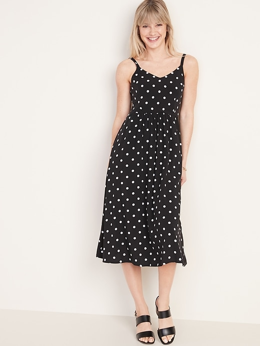 Printed Fit & Flare Cami Midi Dress for Women