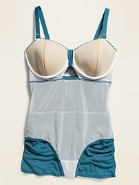 Secret-Slim Plus-Size Tie-Front Swim Dress