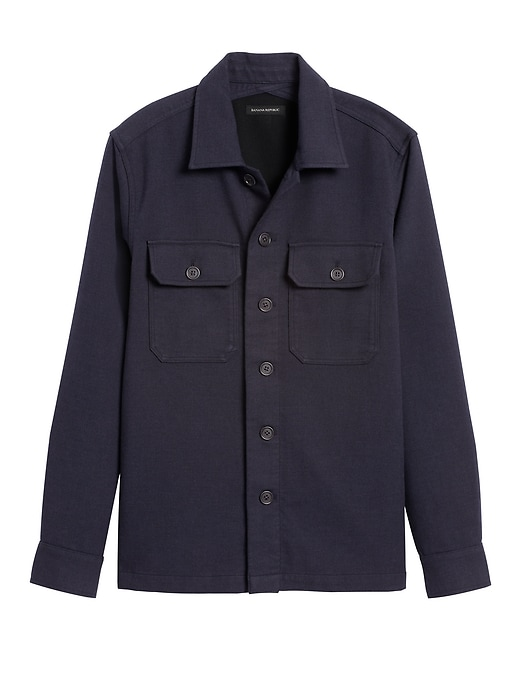 Slim Double-Weave Shirt Jacket