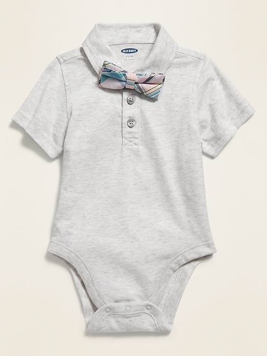 Polo Bow-Tie Bodysuit for Baby