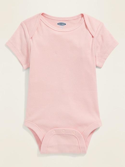 Pink Short-Sleeve Bodysuit for Baby
