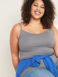 First-Layer Plus-Size V-Neck Cami
