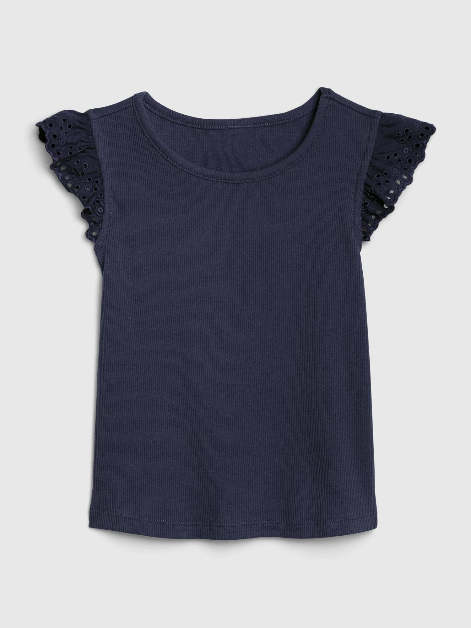 アイレット フラッタースリーブtシャツ (幼児)