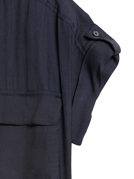 Petite Boxy Popover Shirt