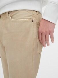 Garment-Dyed Slim Jeans