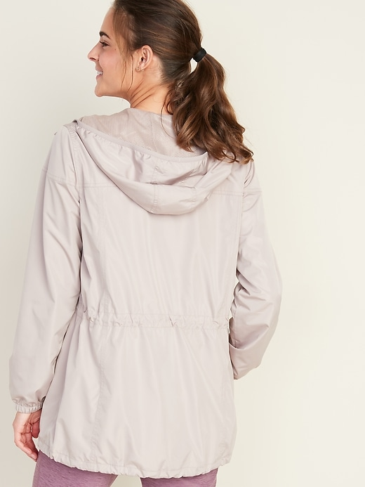 Go-H20 Water-Resistant Lightweight Hooded Anorak for Women
