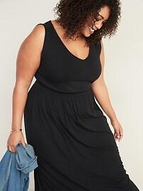 Sleeveless Plus-Size Waist-Defined Maxi Dress