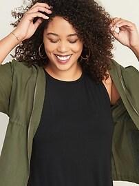 Sleeveless Plus-Size Jersey Swing Dress