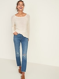 Relaxed Boat-Neck Sweater for Women
