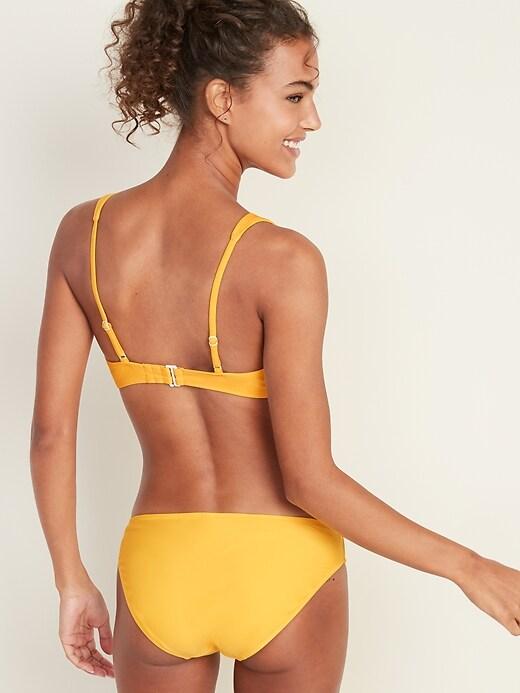 Triangle O-Ring Bikini Top for Women