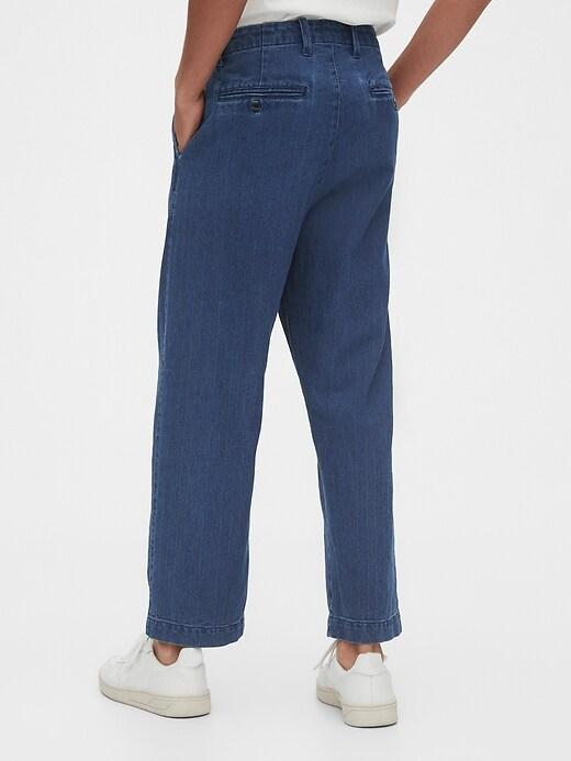 Herringbone Wide-Leg  Pants