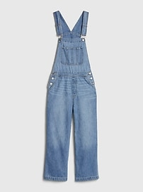 Wide-Leg Denim Overalls