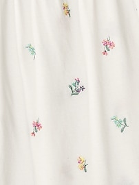 Kids Embroidered Puff-Sleeve Top