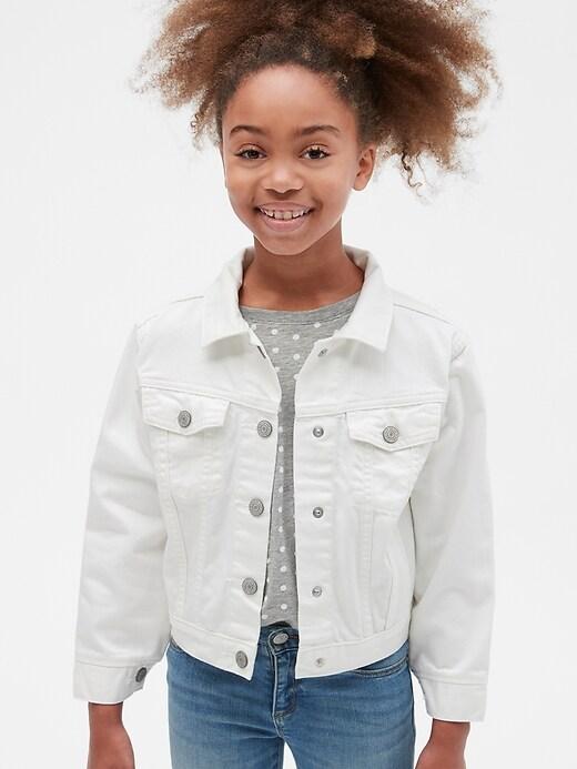 Kids Denim Jacket in Stain Resistant