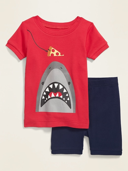Shark-Graphic Pajama Set for Toddler & Baby