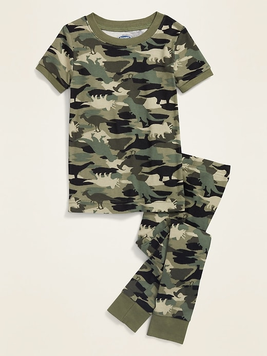 Camo-Dino Pajama Set for Toddler & Baby