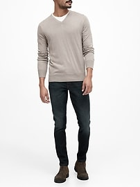 Silk Cotton Cashmere V-Neck Sweater