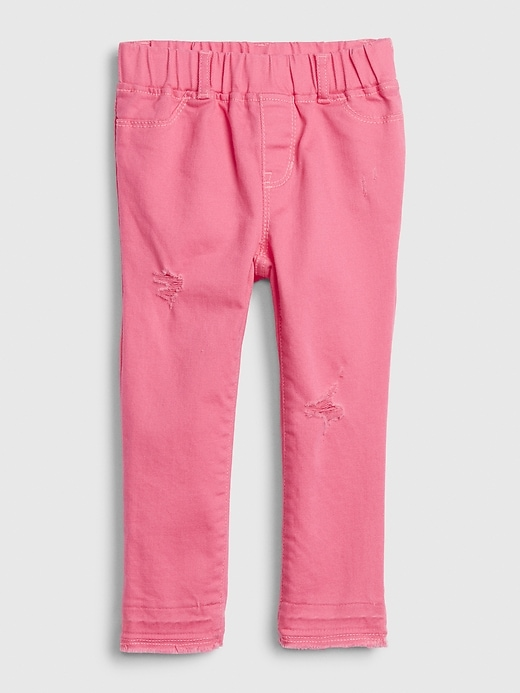Toddler Destructed Ankle Jeggings with Stretch